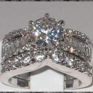 Jewelry - New Bridal Engagement Wedding Ring Set EXOTIC CZ 5